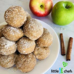 apple cider donut holes on plate