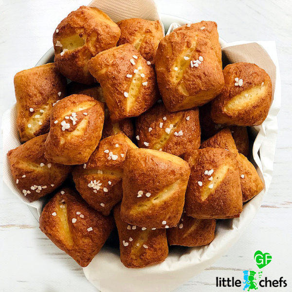 gluten free pretzel bites picture of baking kit
