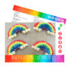 picture of rainbow donuts baking kit recipe card